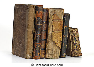 old historic book on white
