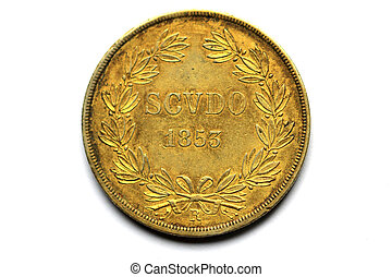 Back of the coins of Pivs IX Pont - Gold coins of Pivs IX...
