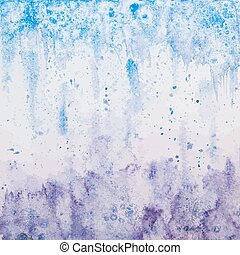 Vector Hand Drawn Violet-blue Watercolor Background
