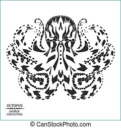Zentangle stylized octopus. Sketch for tattoo or t-shirt.