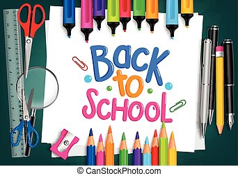 Set of Back to School Items