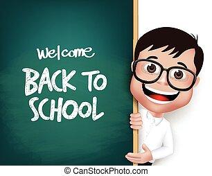 Nerd School Boy Student Character - 3D Realistic Nerd School...