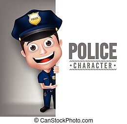 3D Realistic Police Man Character