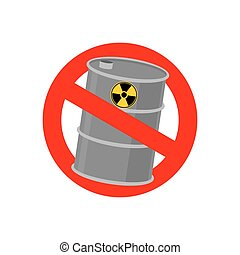 Prohibiting signs Biohazard. Crossed barrel of toxic waste....