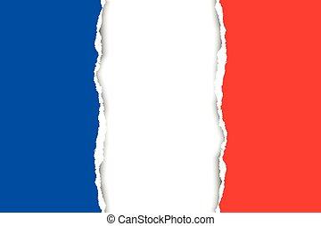 francais, drapeau,