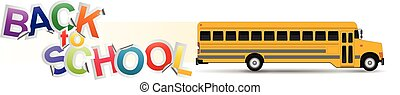 """back to school - illustration of """"back to school"""" text with..."""