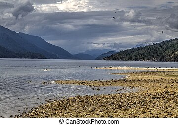 Sechelt Inlet porpoise bay - the view up Sechelt inlet from...
