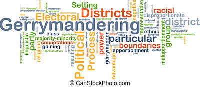 Gerrymandering background concept - Background concept...
