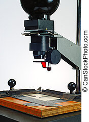 photographic enlarger - Old photo enlarger for making black...