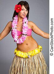 Hawaiian Hula Dancer Girl