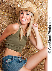 Beautiful smiling country girl