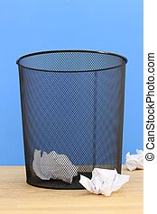 Trash Can - A close up shot of a trash can