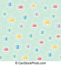 social network devices pattern