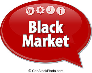 Black Market Business term speech bubble illustration -...