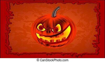 Happy Halloween of cheerful pumpkin