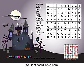 game for halloween - game for children for halloween: find...