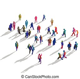 Menschengruppe von oben.eps - crowd