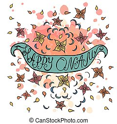 Onam vector illustration - Vector illustration of card...