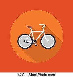 平ら, 旅行, 自転車, アイコン