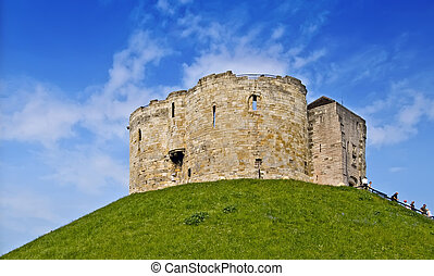 Castle keep, York - Ancient Motte and Bailey Medieval stone...
