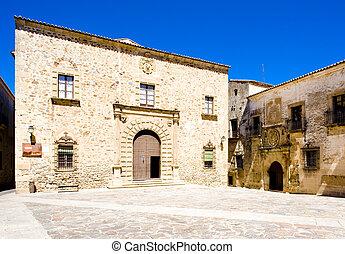 Episcopal Palace, Plaza de Santa Maria, Caceres,...