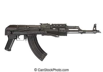 Kalashnikov AK-47 isolated on white