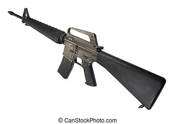 M16 rifle Vietnam War period isolated on a white background
