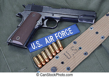 colt goverment 1911 with us air force uniform - colt...