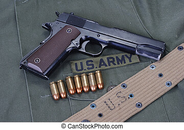 colt goverment 1911 with us army uniform - colt goverment...