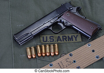 colt government 1911 with us army uniform - colt goverment...