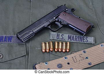 colt goverment 1911 with us marines uniform - colt goverment...