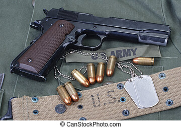 colt government M1911 with US ARMY uniform texture...