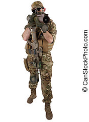 Private Military Contractor with RPG rocket launcher...