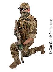 carbine, militär,  m4, privat, entreprenör