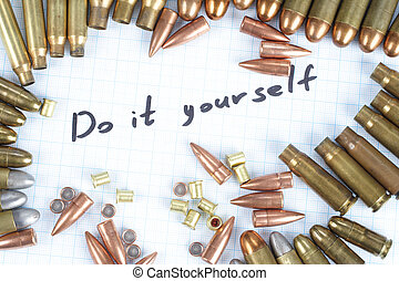 Do It Youself - Reloading cartridges background