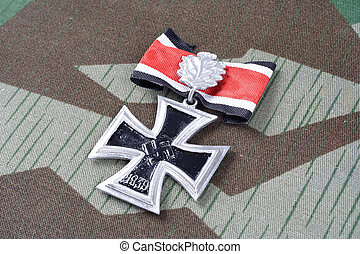 nazi award - Knights Cross of the Iron Cross on camouflage...