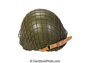 soviet army infantry helmet isolated on white