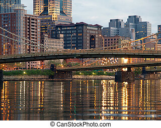 Pittsburghs Downtown Waterfront - Pittsburghs downtown...
