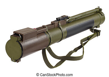 anti-tank rocket propelled grenade launcher isolated on...