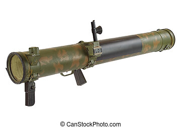 rocket propelled grenade launcher isolated on white