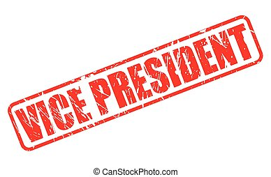 Vice president red stamp text on white