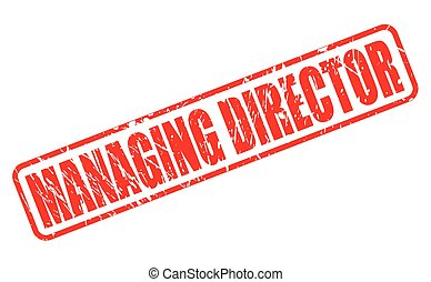 MANAGING DIRECTOR red stamp text on white