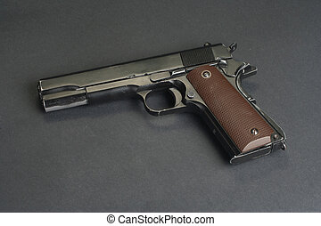 colt goverment M1911 on black background