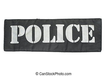Police uniform badge isolated on white