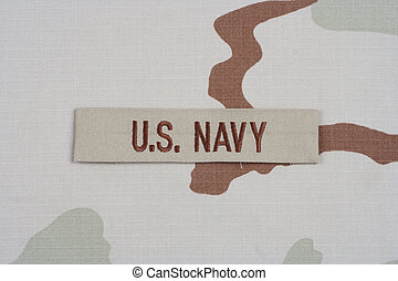 KIEV, UKRAINE - May 9, 2015. US NAVY branch tape with dog...