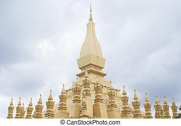 Pha That Luang, Vientiane, Laos. - Pha That Luang,...