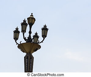 Vintage Light Post - A light post erected on the streets of...