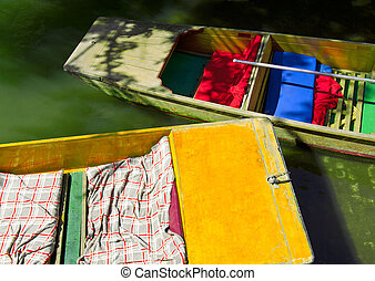 Travel - Abstract colorful background of punting