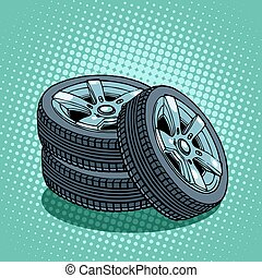 Tires spare wheels car replacement part repair