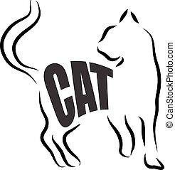 CAT ILLUSTRATION LETTERING.eps